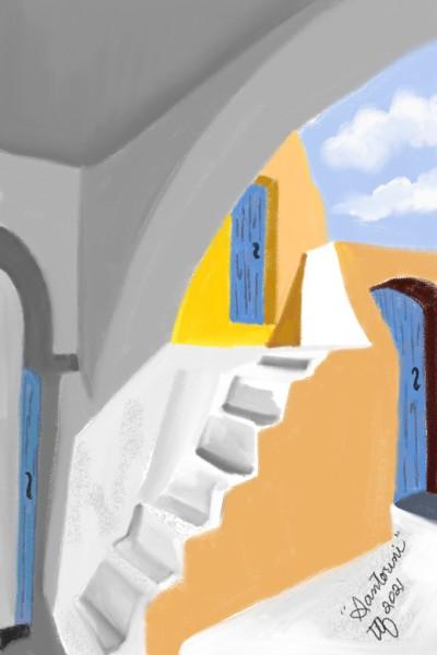 Santorini Daydreams   TeeTee   Digital Drawing   PENUP
