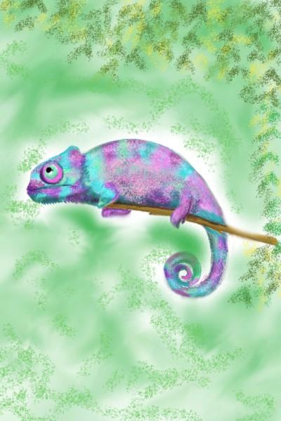 Chameleon ♡ | Sylvia | Digital Drawing | PENUP