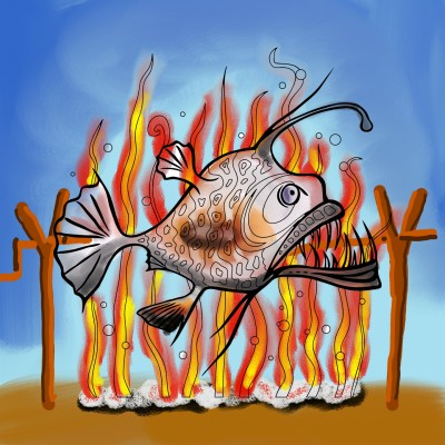 roasted fish | J-O-C | Digital Drawing | PENUP
