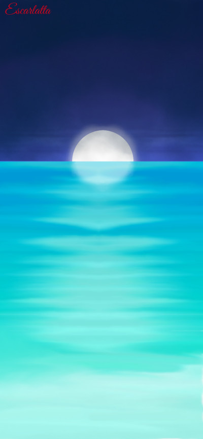 Full Moon Night | Escarlatta | Digital Drawing | PENUP