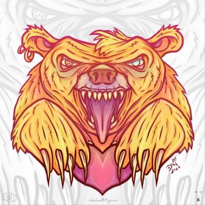 Grizzly bear keeper of my heart by nikolass  | nikolass83 | Digital Drawing | PENUP
