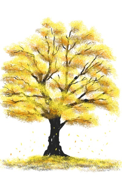 Tree with Yellow (Challenge) | Chris_Lee | Digital Drawing | PENUP