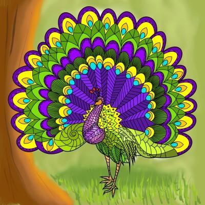 peafowl | J-O-C | Digital Drawing | PENUP