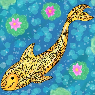 Fish for good luck  | Sylvia | Digital Drawing | PENUP