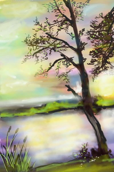 Landscape Digital Drawing | Barbra | PENUP