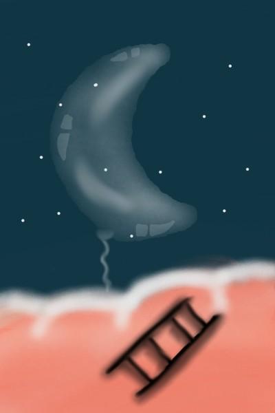 Ladder to the moon☆ | Kashish | Digital Drawing | PENUP