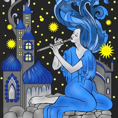 Die Flötistin | Klimtin | Digital Drawing | PENUP
