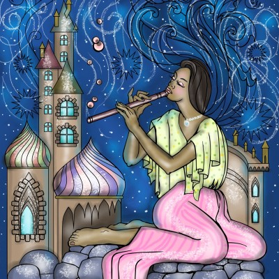music of flute filling the air ♡ | Sylvia | Digital Drawing | PENUP