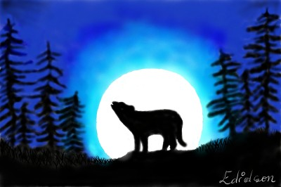 The lonely wolf   Edidson96   Digital Drawing   PENUP