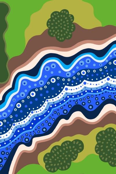 birds eye view of a river | Beastar | Digital Drawing | PENUP