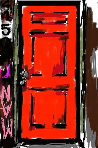 A Red Door In Need of Black   BodhiJones777   Digital Drawing   PENUP