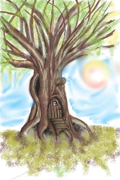 ...ogni albero potrebbe nascondere una porta    stex   Digital Drawing   PENUP