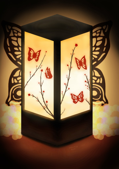 Butterfly lantern  | Cong.gee | Digital Drawing | PENUP
