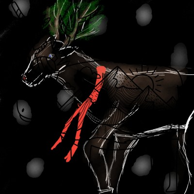 Nature Deer | Dragon_Halfling | Digital Drawing | PENUP