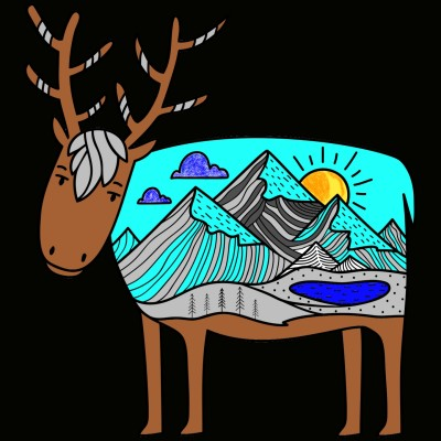 Mountains in a goat :) | sharron17 | Digital Drawing | PENUP