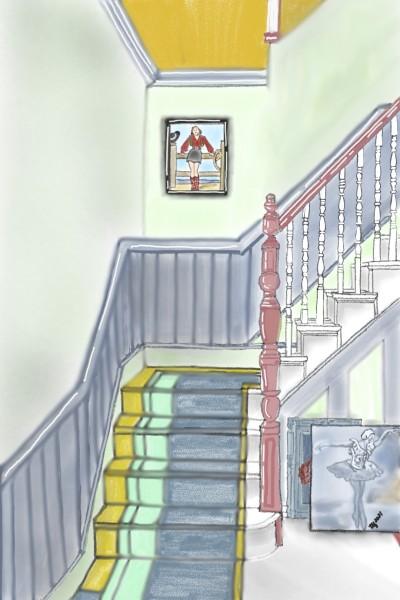 Happy Stairs | TeeTee | Digital Drawing | PENUP