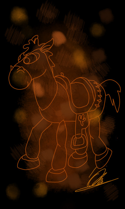 Toy  Story Hores Bullseye   BOB.cat.GINGER   Digital Drawing   PENUP