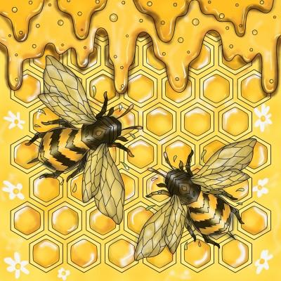 Honey Bees ♡♡♡   Sylvia   Digital Drawing   PENUP