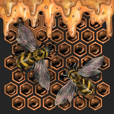 Honey Bees   jenart   Digital Drawing   PENUP