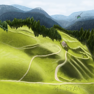 the place where the sheep graze | maleval_sam | Digital Drawing | PENUP