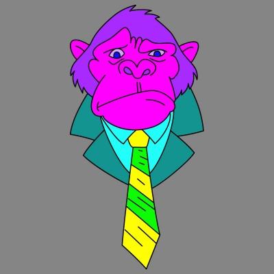 """""""Grape Ape"""" looking for work...   cptpebkac   Digital Drawing   PENUP"""