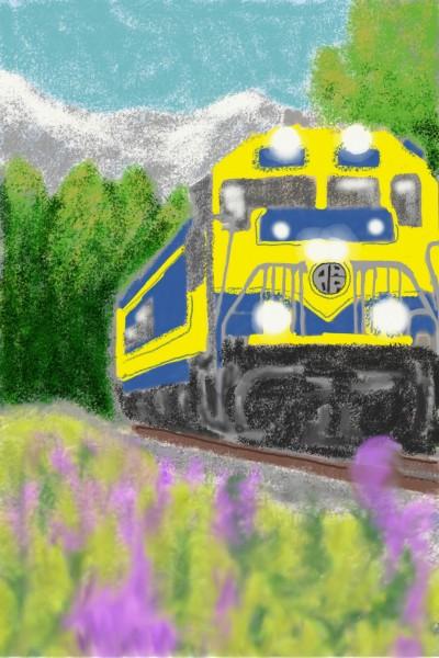 Alaska Railroad   KRinneyArt   Digital Drawing   PENUP