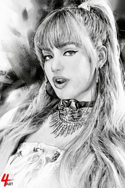 ☆[YouTube] 'LALISA' LISA  | 4ocketart | Digital Drawing | PENUP