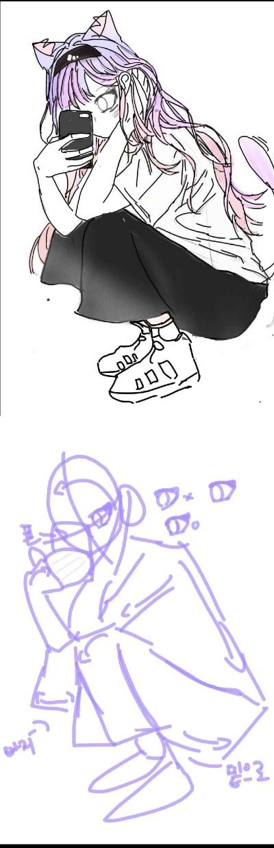 지난 그림 러프   yudam   Digital Drawing   PENUP