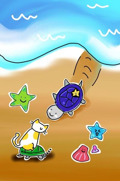 바닷가  | now76 | Digital Drawing | PENUP